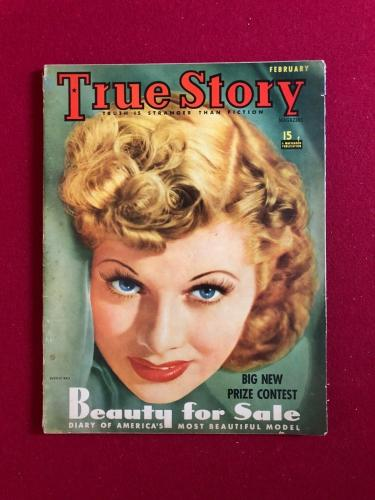 """1941, Lucille Ball, """"True Story"""" Magazine (No Label) (Scarce) (I Love Lucy)"""