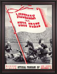 1941 Michigan Wolverines vs Ohio State Buckeyes 36x48 Framed Canvas Historic Football Poster
