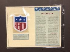 1942 Health Patch LOST TREASURES OF BASEBALL 4x4 Hale America WW2 St Louis