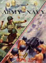 1942 Navy Midshipmen vs Army Black Knights 22x30 Canvas Historic Football Poster