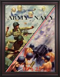 1942 Navy Midshipmen vs Army Black Knights 36x48 Framed Canvas Historic Football Poster