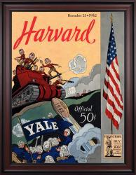 1942 Yale Bulldogs vs Harvard Crimson 36x48 Framed Canvas Historic Football Poster