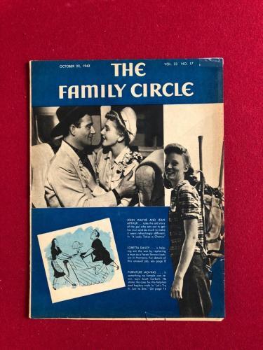 "1943, John Wayne, ""Family Circle"" Magazine (No Label) Scarce"