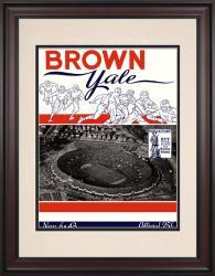 1943 Yale Bulldogs vs Brown Bears 10 1/2 x 14 Framed Historic Football Poster
