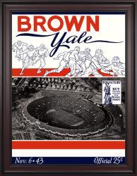1943 Yale Bulldogs vs Brown Bears 36x48 Framed Canvas Historic Football Poster