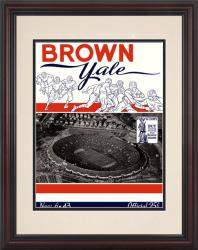 1943 Yale Bulldogs vs Brown Bears 8.5'' x 11'' Framed Historic Football Poster - Mounted Memories