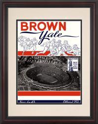 1943 Yale Bulldogs vs Brown Bears 8.5'' x 11'' Framed Historic Football Poster