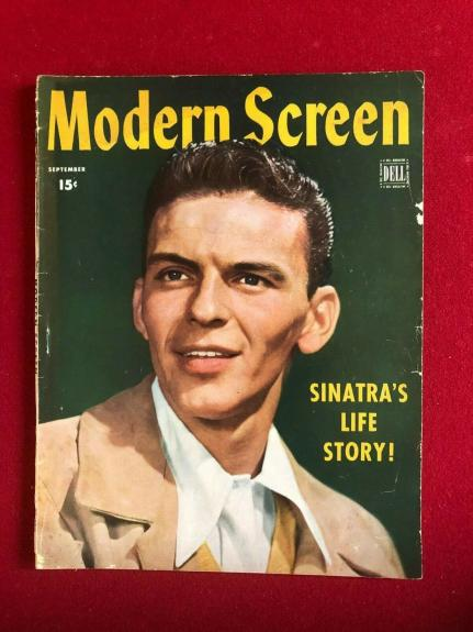 "1944, Frank Sinatra, ""Modern Screen"" Magazine (No Label) Scarce / Vintage"
