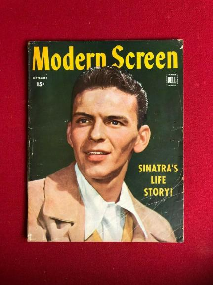 "1944, Frank Sinatra, ""Modern Screen"" Magazine  (No Label )Scarce / Vintage"