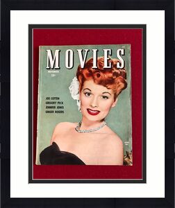 "1944, Lucille Ball, ""MOVIES"" Magazine (No Label) Scarce  (I Love Lucy)"