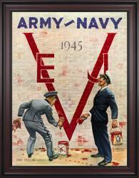 1945 Army Black Knights vs Navy Midshipmen 36x48 Framed Canvas Historic Football Poster