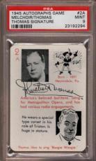 1945 Autographs Game #2a Melchoir-thomas Signature Pop 1 Psa 9 X1815672-294