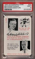 1945 Autographs Game #2a Melchoir-thomas Signature Pop 2 Psa 9 X1815682-295
