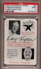 1945 Autographs Game #6a Kyser-whiteman Signature Pop 2 Psa 9 X1815675-303