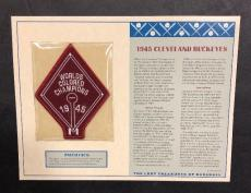 1945 Cleveland Buckeyes Worlds Colored Champs Patch LOST TREASURES BASEBALL 5x6