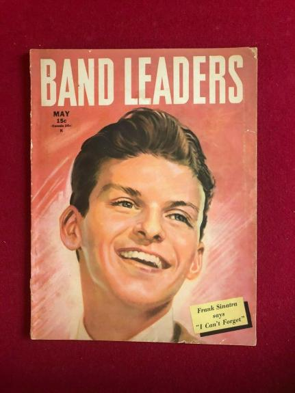 "1945, Frank Sinatra, ""BAND LEADERS"" Magazine (No Label) Scarce / Vintage"