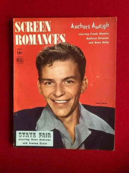 "1945, Frank Sinatra, ""SCREEN ROMANCES"" Magazine (No Label) Scarce / Vintage"