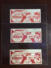 "1945, Superman, ""Tim Store Redback"" Currency (Set of 1/5/10) (Scarce)"