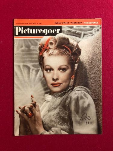"""1946, Lucille Ball, """"Picturegoer"""" Magazine (No Label) (Scarce) (I Love Lucy)"""