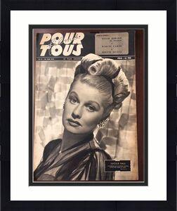 "1946, Lucille Ball, ""POUR TOUS"" Oversize Magazine (RARE)"