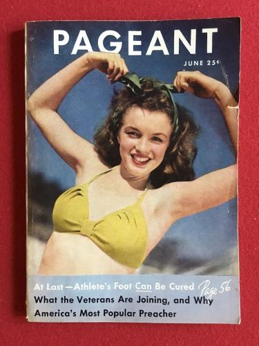 """1946, Marilyn Monroe (Norma Jean), """"PAGEANT"""" Magazine (Rare- Super Early)"""