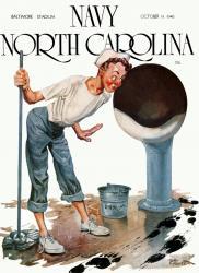 1946 Navy Midshipmen vs North Carolina Tar Heels 36x48 Canvas Historic Football Poster