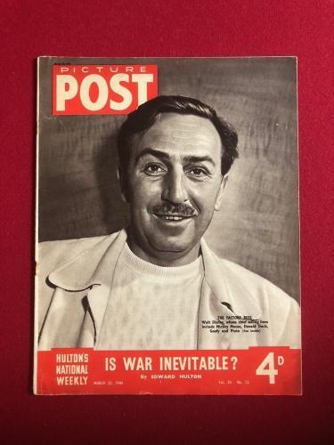 "1946, Walt Disney, ""PICTURE POST"" Magazine (No Label) Scarce"