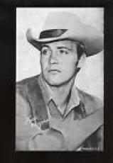 1947-1950s Lee Majors Exhibit Cowboy card by Exhibit Supply Company MINT