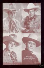 1947 4 in 1 Cowboy Exhibit Card John Wayne MINT