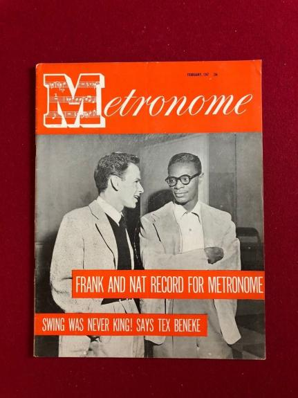 "1947, Frank Sinatra / Nat King Cole, ""Metronome"" Magazine (Scarce)"