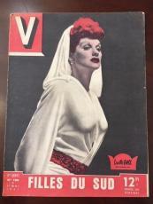 """1947, Lucille Ball """"V"""" Oversize Magazine, (Scarce)"""