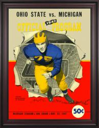 1947 Michigan Wolverines vs Ohio State Buckeyes 36x48 Framed Canvas Historic Football Poster