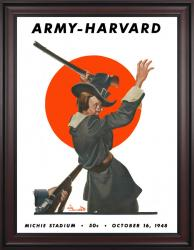 1948 Army Black Knights vs Harvard Crimson 36x48 Framed Canvas Historic Football Poster