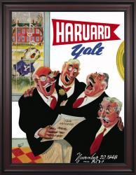 1948 Harvard Crimson vs Yale Bulldogs 36x48 Framed Canvas Historic Football Poster