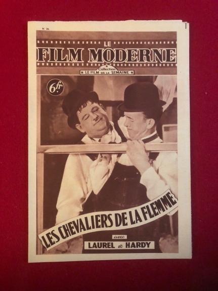 "1948, Laurel & Hardy, ""LE FILM MODERNE"" Magazine (Scarce)"