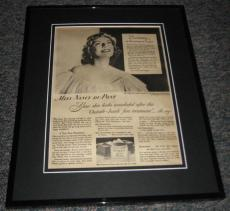 1948 Ponds Cold Cream Original Framed Advertisement Poster