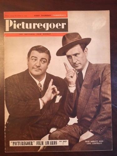 "1949, Abbott / Costello, 'Picturegoer"" Magazine (No Label) Scarce"