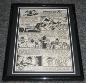1949 Batman & Robin Sportsmanship Framed Advertisement Official Reproduction