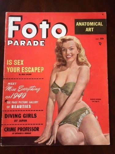 "1949, Marilyn Monroe, ""FOTO PARADE"" Magazine (Scarce)(No Label) (Early Monroe!!)"