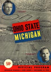 1949 Michigan Wolverines vs Ohio State Buckeyes 22x30 Canvas Historic Football Poster