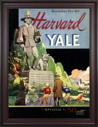 1949 Yale Bulldogs vs Harvard Crimson 36x48 Framed Canvas Historic Football Poster