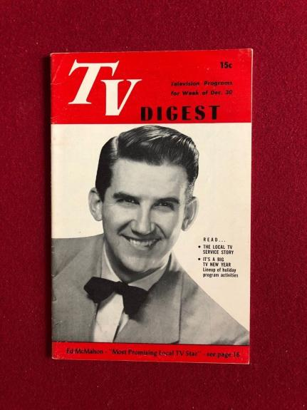 "1950, Ed McMahon, (The Tonight Show) ""TV Digest""  (No Label) Scarce"