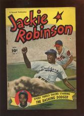 1950 Fawcett Baseball Comic Jackie Robinson Brooklyn Dodgers #4