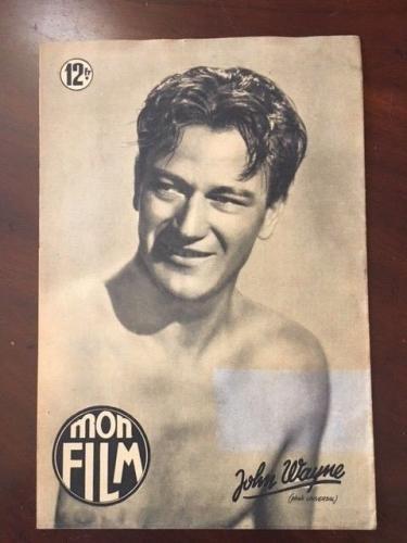 "1950, John Wayne, ""MON FILM"" Magazine  (Scarce)  ""The Duke"" (Super Early Cover)"
