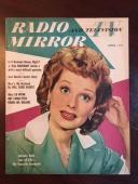 "1950, Lucille Ball (I Love Lucy), ""Radio & TV Mirror"" Magazine (Scarce)"