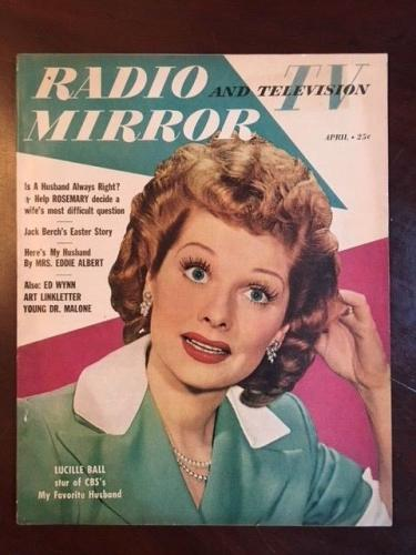 "1950, Lucille Ball (I Love Lucy), ""Radio & TV Mirror"" Magazine (Scarce)"