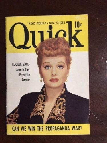 "1950, Lucille Ball, ""Quick"" Magazine"