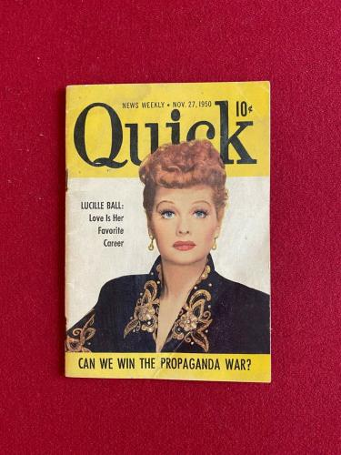 "1950, Lucille Ball, ""Quick"" Magazine (Scarce / Vintage)"