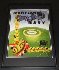 1950 Maryland vs Navy Byrd Stadium Dedication Framed 10x14 Poster Official Repro