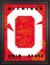 1950 Ohio State Buckeyes vs Michigan Wolverines 36x48 Framed Canvas Historic Football Poster